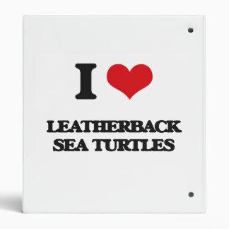 Amo tortugas de mar del Leatherback