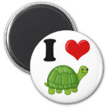 Amo tortugas imán para frigorifico