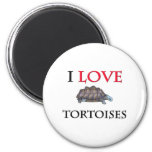 Amo tortugas imán para frigorífico