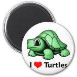 Amo tortugas imanes de nevera