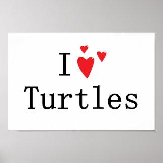 Amo tortugas impresiones