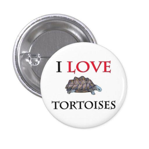 Amo tortugas pin redondo 2,5 cm