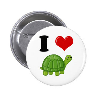 Amo tortugas pin redondo 5 cm