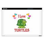 Amo tortugas portátil calcomanía