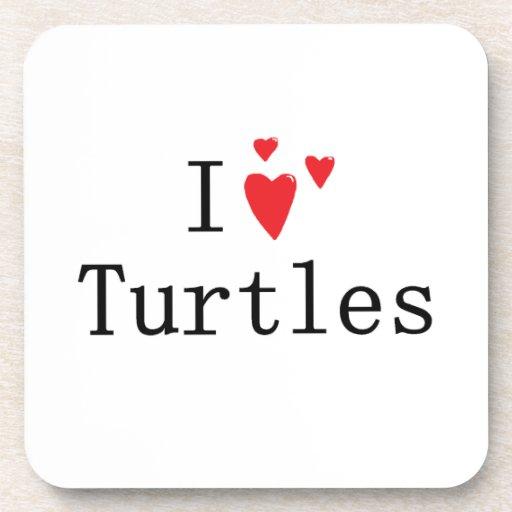 Amo tortugas posavasos