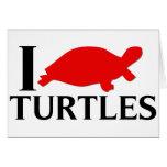 Amo tortugas tarjeta