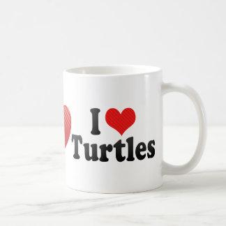 Amo tortugas taza de café