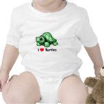 Amo tortugas trajes de bebé