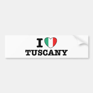 Amo Toscana Etiqueta De Parachoque