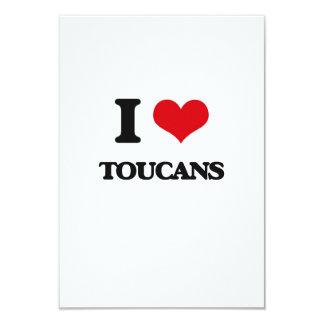 """Amo Toucans Invitación 3.5"""" X 5"""""""