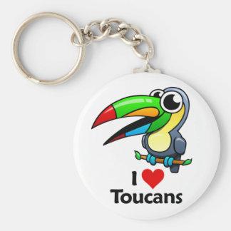 Amo Toucans Llavero Personalizado