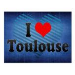 Amo Toulouse, Francia Tarjeta Postal