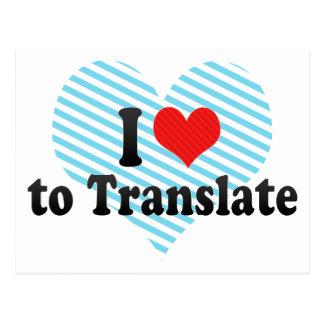Amo traducir postal
