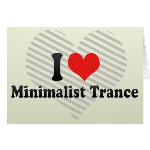 Amo trance minimalista tarjeta de felicitación