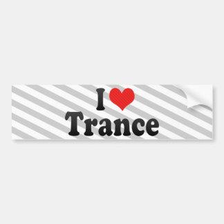 Amo trance pegatina para auto