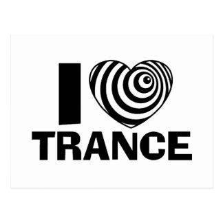 Amo trance tarjeta postal