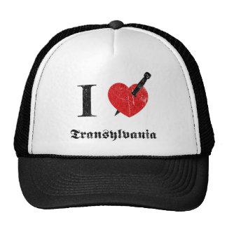 Amo Transilvania (la fuente erosionada negro) Gorro