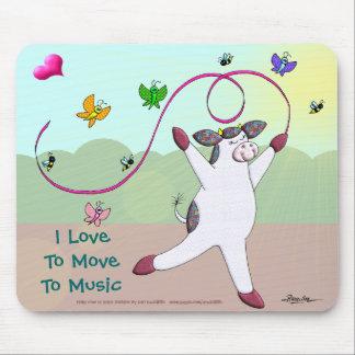 Amo trasladarme a la música alfombrillas de raton