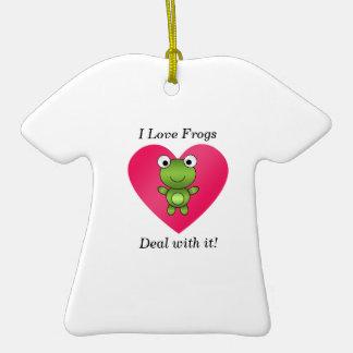 Amo trato de las ranas con él ornamentos de reyes magos