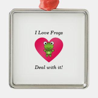 Amo trato de las ranas con él adorno