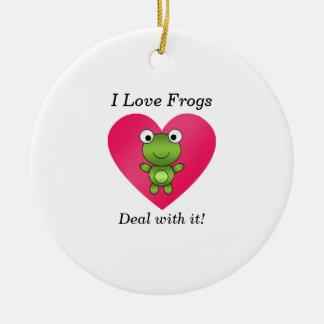 Amo trato de las ranas con él ornato
