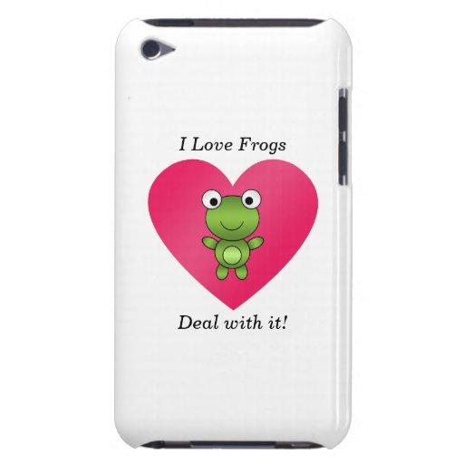 Amo trato de las ranas con él Case-Mate iPod touch protectores