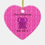 Amo trato de los elefantes con él ornamento de reyes magos