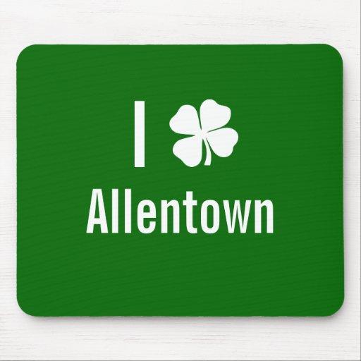 Amo (trébol) día del St Patricks de Allentown Tapetes De Ratones