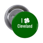 Amo (trébol) día del St Patricks de Cleveland Pins