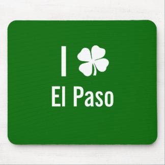 Amo (trébol) día del St Patricks de El Paso Tapetes De Ratón