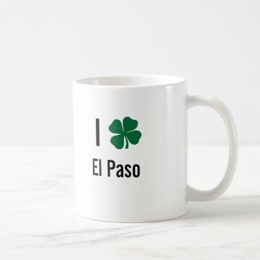 Amo (trébol) día del St Patricks de El Paso Tazas