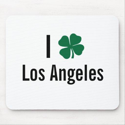 Amo (trébol) día del St Patricks de Los Ángeles Alfombrilla De Ratón