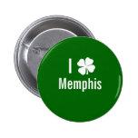 Amo (trébol) día del St Patricks de Memphis Pin
