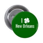 Amo (trébol) día del St Patricks de New Orleans Pins
