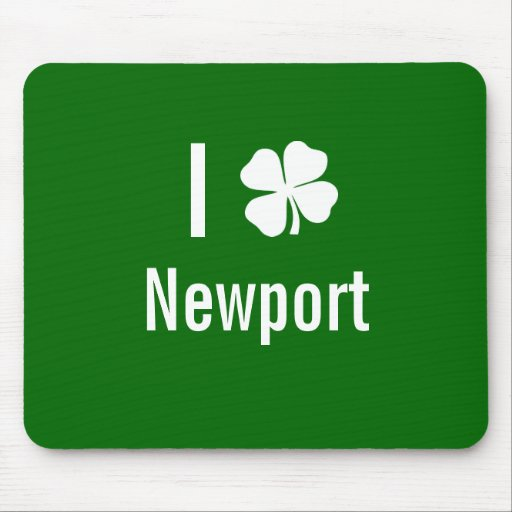 Amo (trébol) día del St Patricks de Newport Alfombrillas De Ratón