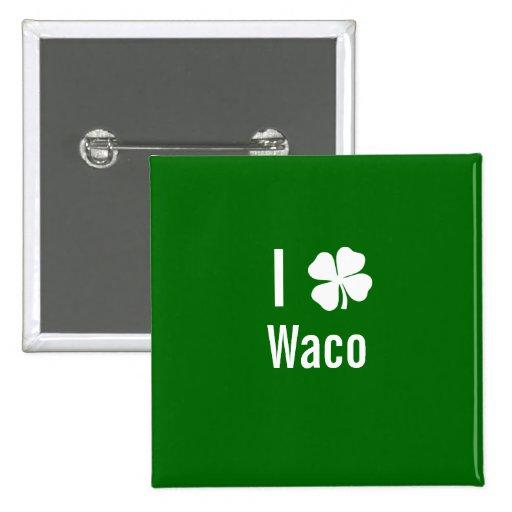 Amo (trébol) día del St Patricks de Waco Pins