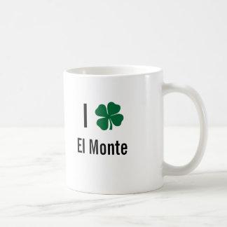 Amo (trébol) día del St Patricks del EL Monte Taza Básica Blanca