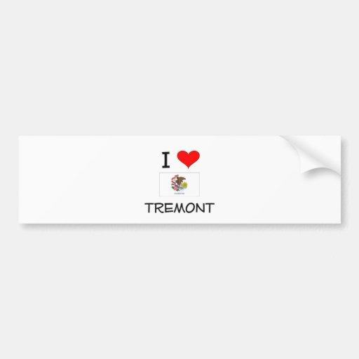 Amo TREMONT Illinois Etiqueta De Parachoque