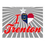 Amo Trenton, Carolina del Norte Tarjeta Postal