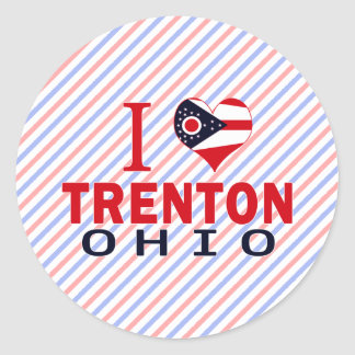 Amo Trenton Ohio Etiqueta Redonda