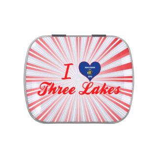 Amo tres lagos Wisconsin Jarrones De Dulces