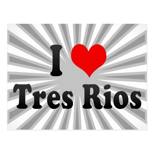 Amo Tres Rios, el Brasil Tarjeta Postal