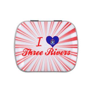 Amo tres ríos Michigan Frascos De Caramelos