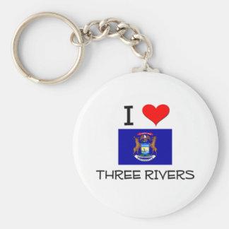 Amo tres ríos Michigan Llavero Redondo Tipo Pin