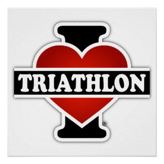 Amo Triathlon Perfect Poster