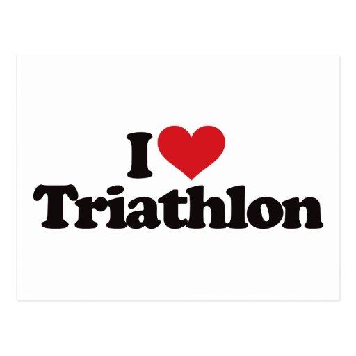 Amo Triathlon Tarjeta Postal