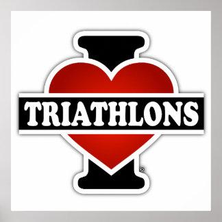 Amo Triathlons Póster