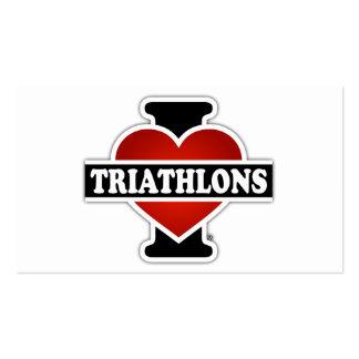 Amo Triathlons Tarjetas De Visita