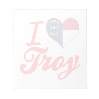 Amo Troy, Carolina del Norte Blocs De Notas