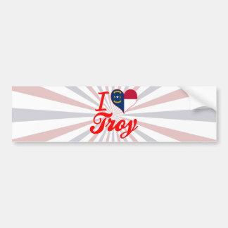 Amo Troy, Carolina del Norte Etiqueta De Parachoque